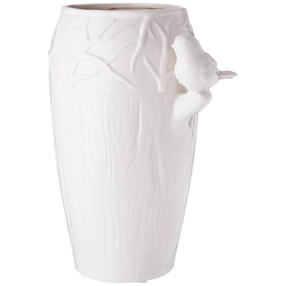 Ваза Lefard Соловьи, 101-1032, белый, 24 х 19 х 33 см ваза lefard diamantes 64 291 белый 12 х 12 х 24 см