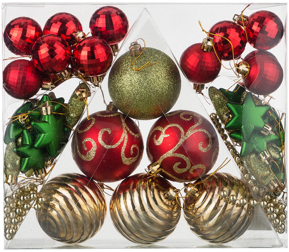 Набор декоративных шаров Lefard Сказочное Рождество, 858-033, 42 шт набор праздничных фигурок lefard рождество 3 шт bh0785441s