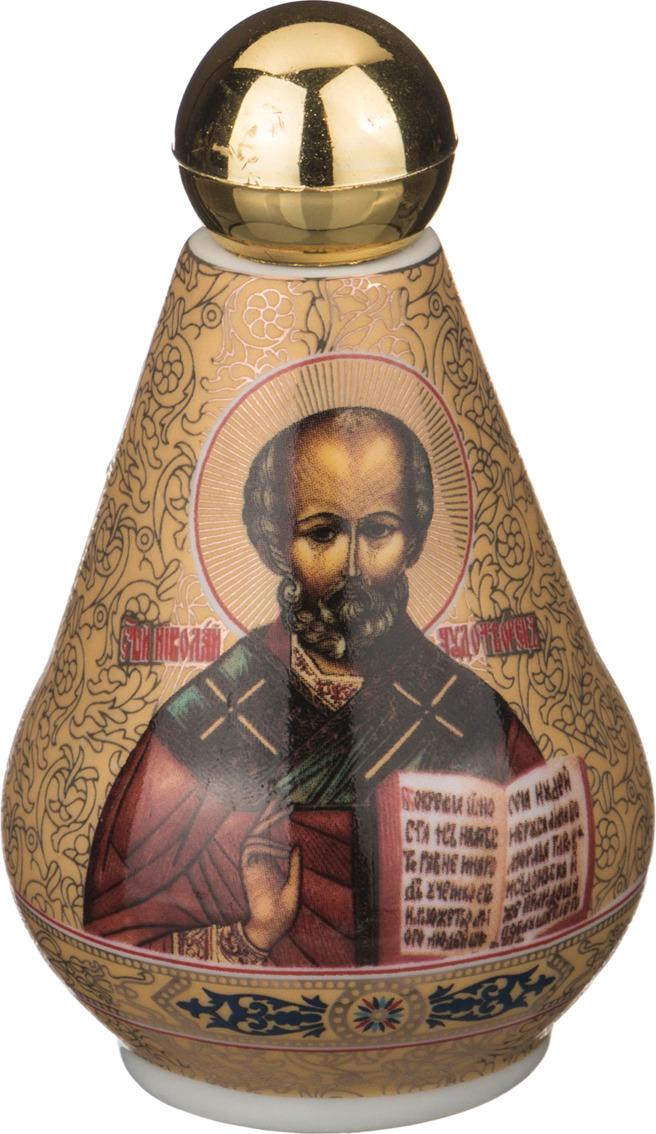 Бутылка декоративная Lefard для святой воды, 55-2795, золотой, 100 мл сосуд для святой воды lefard лики 86 2040