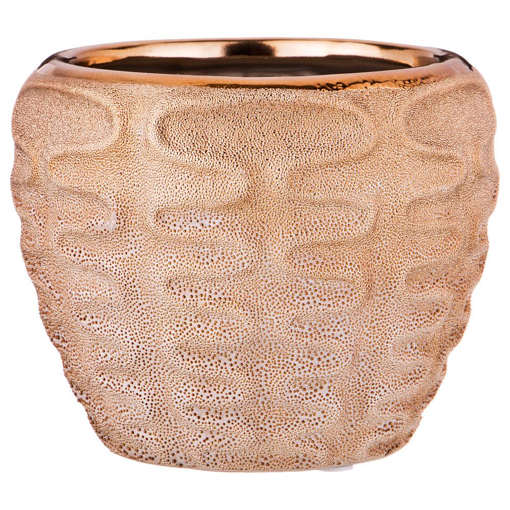 Кашпо Lefard, 112-448, бронзовый, диаметр 12,5 см urbanika кашпо africa