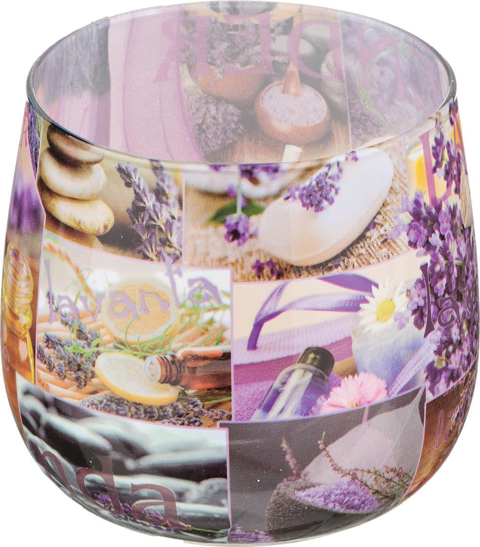 Свеча праздничная Lefard Лаванда, 348-482, разноцветный, 6 х 7 см свеча праздничная lefard christmas time 348 438 разноцветный 6 х 7 см