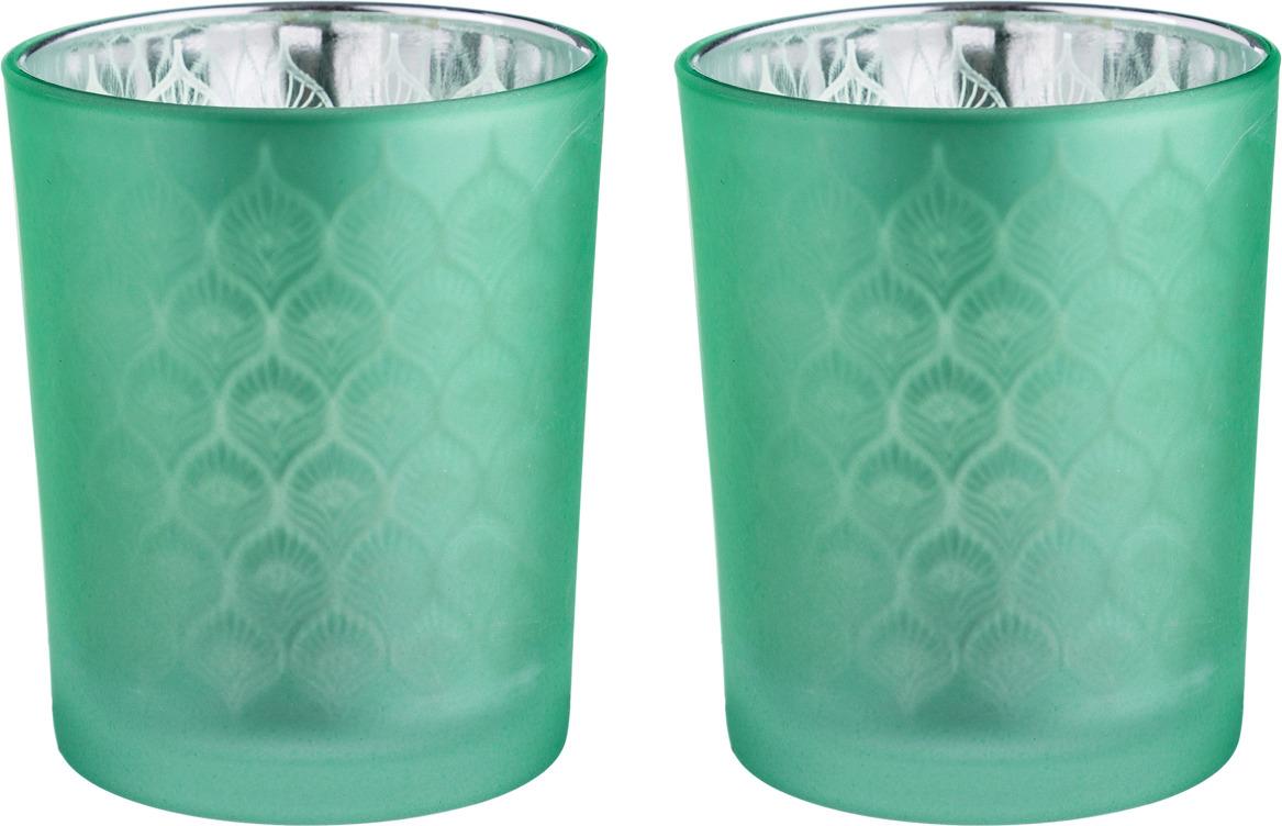 Набор подсвечников Lefard, 421-108, зеленый, 5.5 х 6.5 см, 2 шт набор сундучков roura decoracion 26 х 20 х 15 см 2 шт 34791