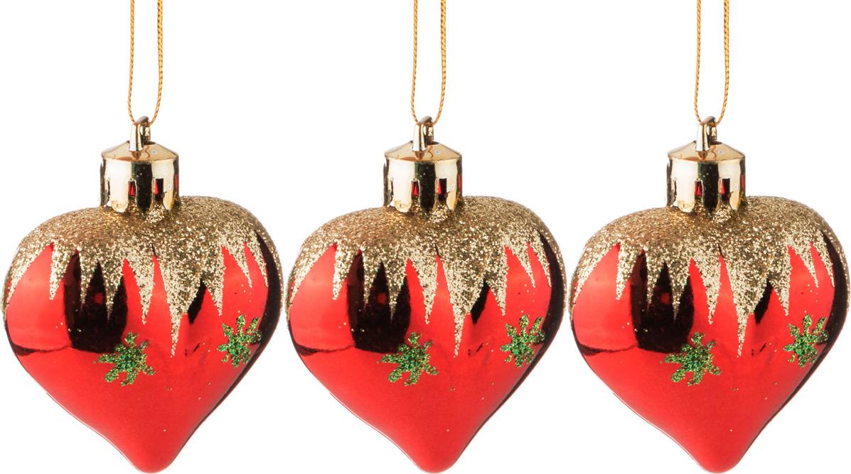 Фото - Набор украшений для интерьера Lefard Сердечки, 858-051, красный, 4 см, 6 шт набор новогодних украшений 1 м 3 шт красный