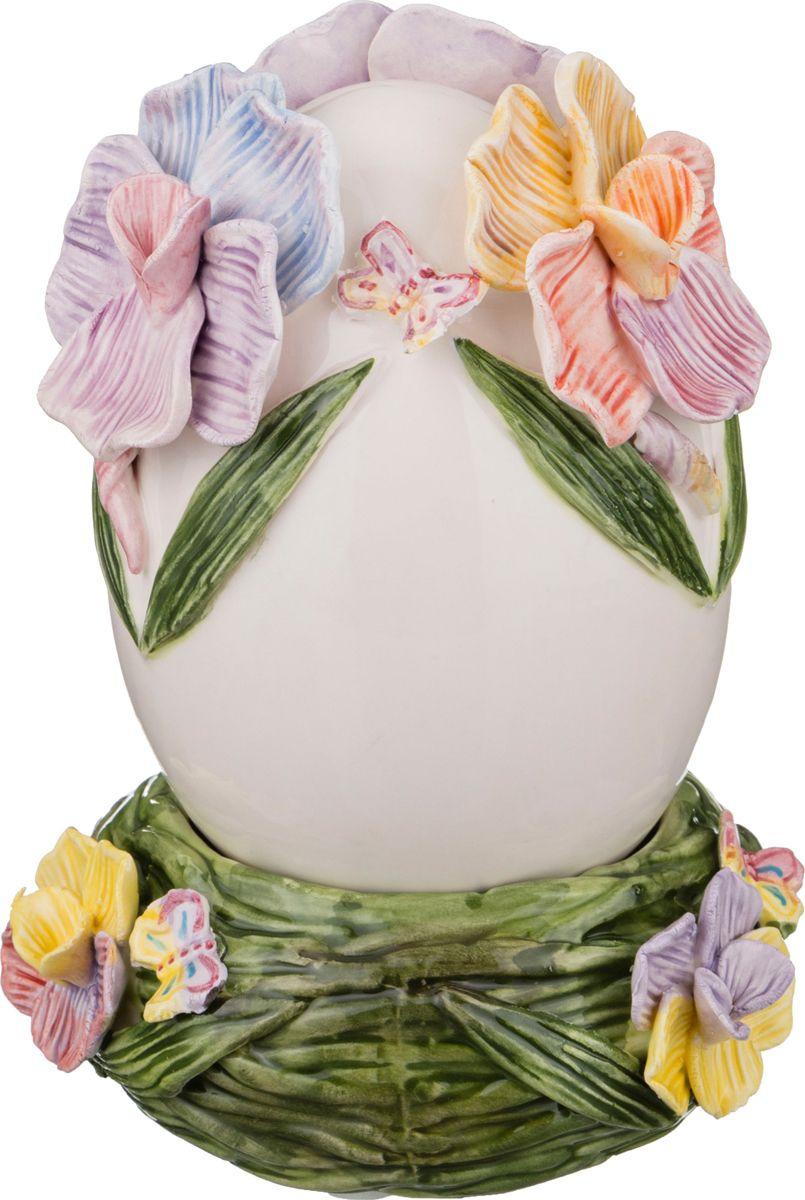Фигурка декоративная Lefard Flower Egg, 101-997, белый, 10 х 10 х 14.5 см цены