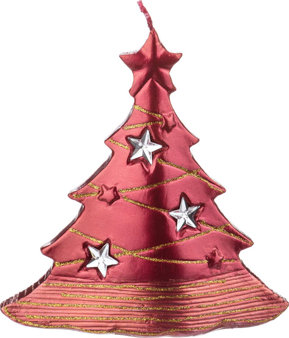 Свеча праздничная Lefard Елочка, 348-355, красный, 15 х 6 х 16 см свеча декоративная win max каллы цвет кремовый 6 см х 6 см х 10 см