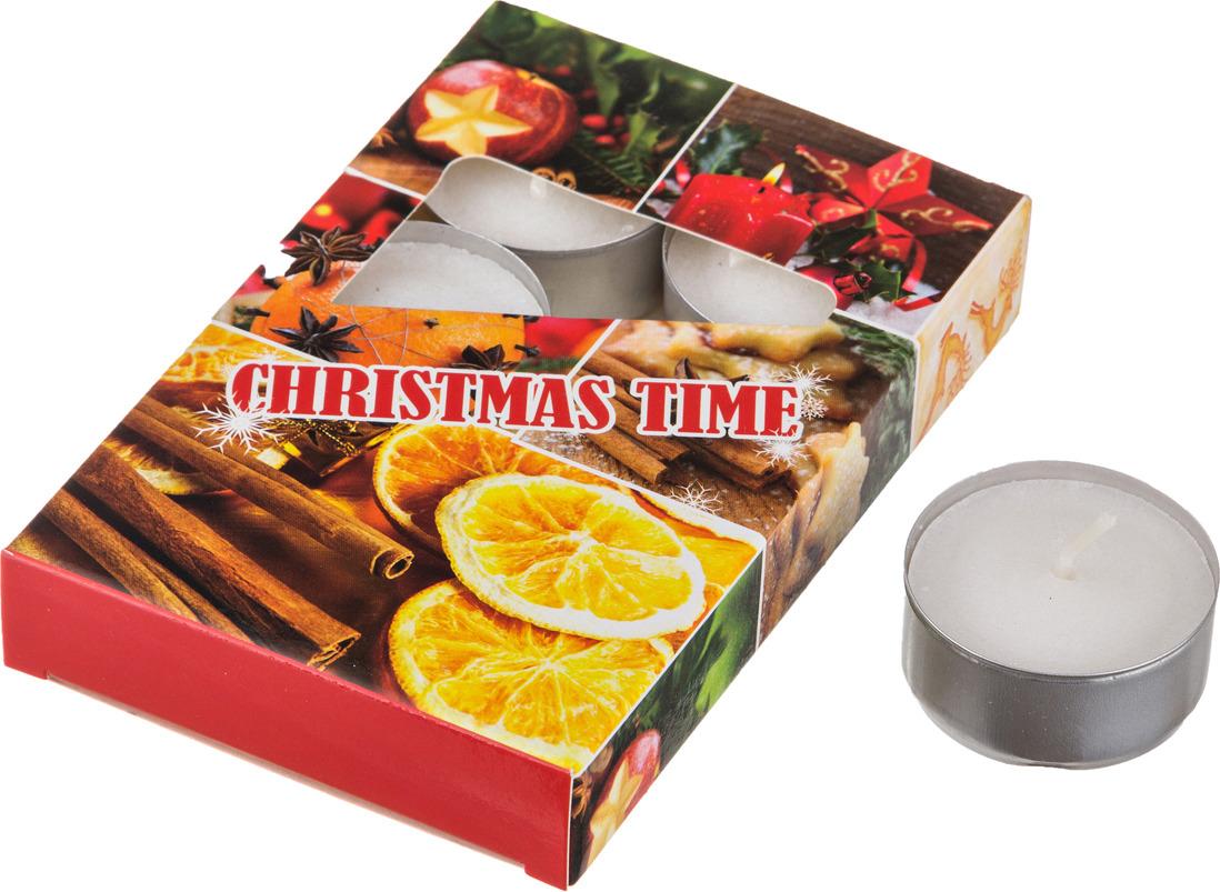 Набор плавающих свечей Lefard Christmas Time, 348-443, белый, с подставкой, 4 х 2 см, 6 шт набор сердец из пенопласта в opp пакете с подвесом 4 шт 4 см 2шт 6 см 2 шт 2310 1