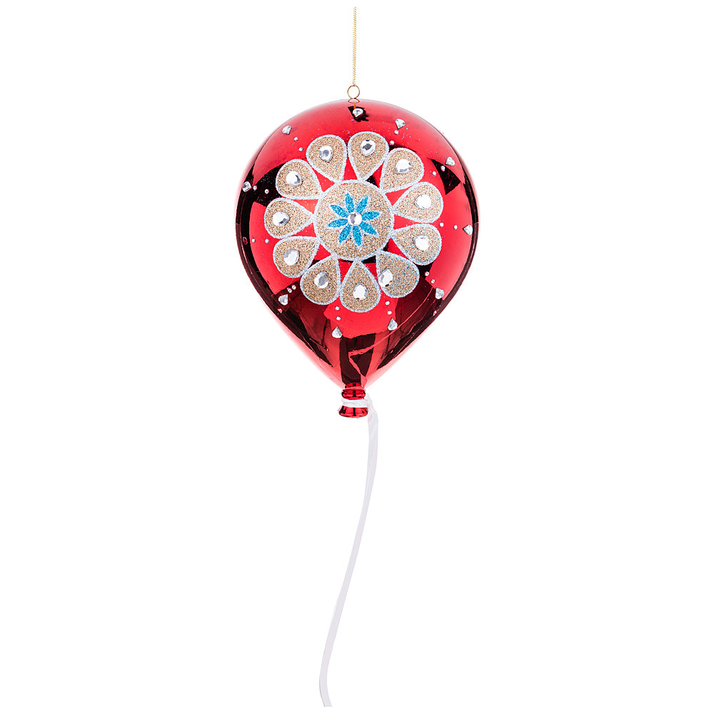 Фото - Украшение для интерьера Lefard Шарик с орнаментом, 749-125, красный, диаметр 20 см украшение для интерьера lefard корона 856 028 золотистый красный 10 см