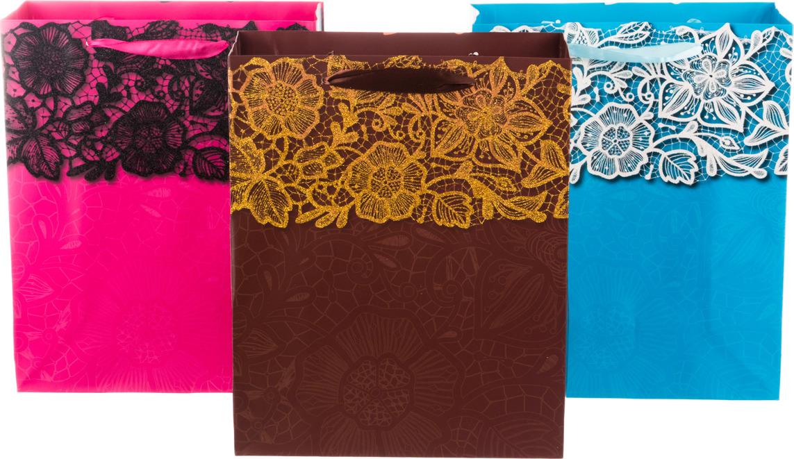 цена на Пакеты бумажные Lefard, 512-508, 32 х 26 х 12 см, 12 шт, 3 вида, в ассортименте