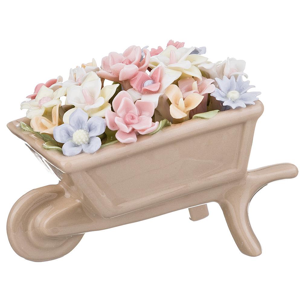 """Статуэтка Lefard """"Садовые цветы"""", 461-254, бежевый, 8 х 5 х 5.5 см"""
