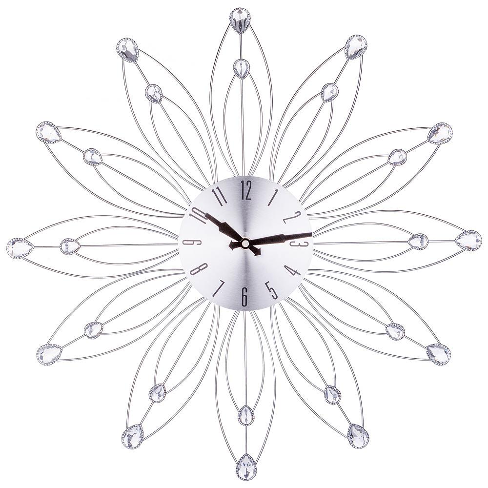 Настенные часы Lefard, электронные, 764-034, серебристый, 49 х 49 х 4 см настенные часы lefard 764 018 электронные серебристый диаметр 48 см