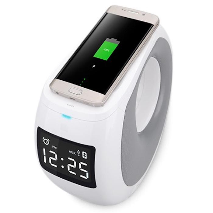 Акустическая система+беспроводная зарядка+часы+будильник Nillkin Cozy MC1