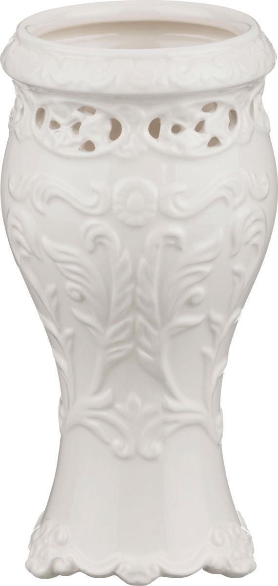 Ваза Lefard, 64-551, белый, 9 х 9 х 21 см все цены