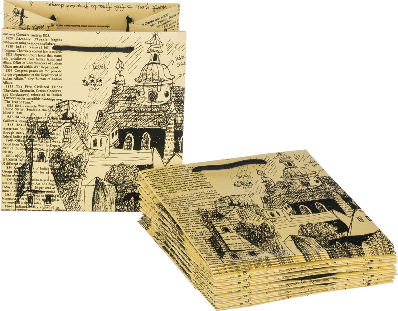 Пакеты бумажные Lefard, 521-079, 21 х 22 х 16 см, 10 шт