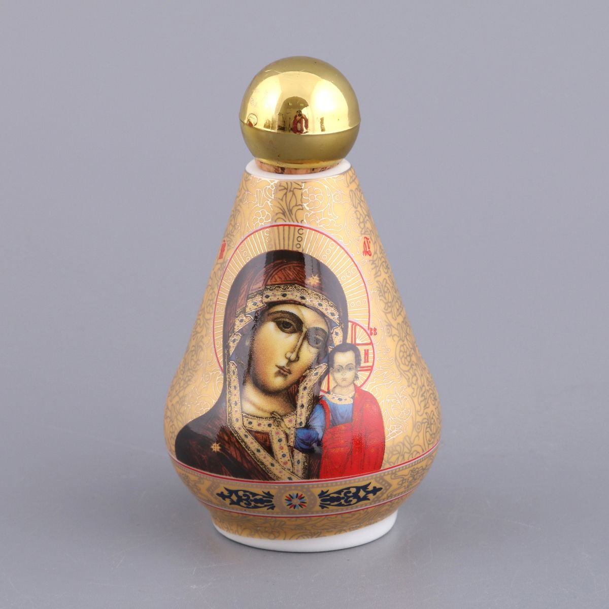 Бутылка декоративная Lefard для святой воды, 55-2793, золотой, 100 мл сосуд для святой воды lefard лики 86 2040
