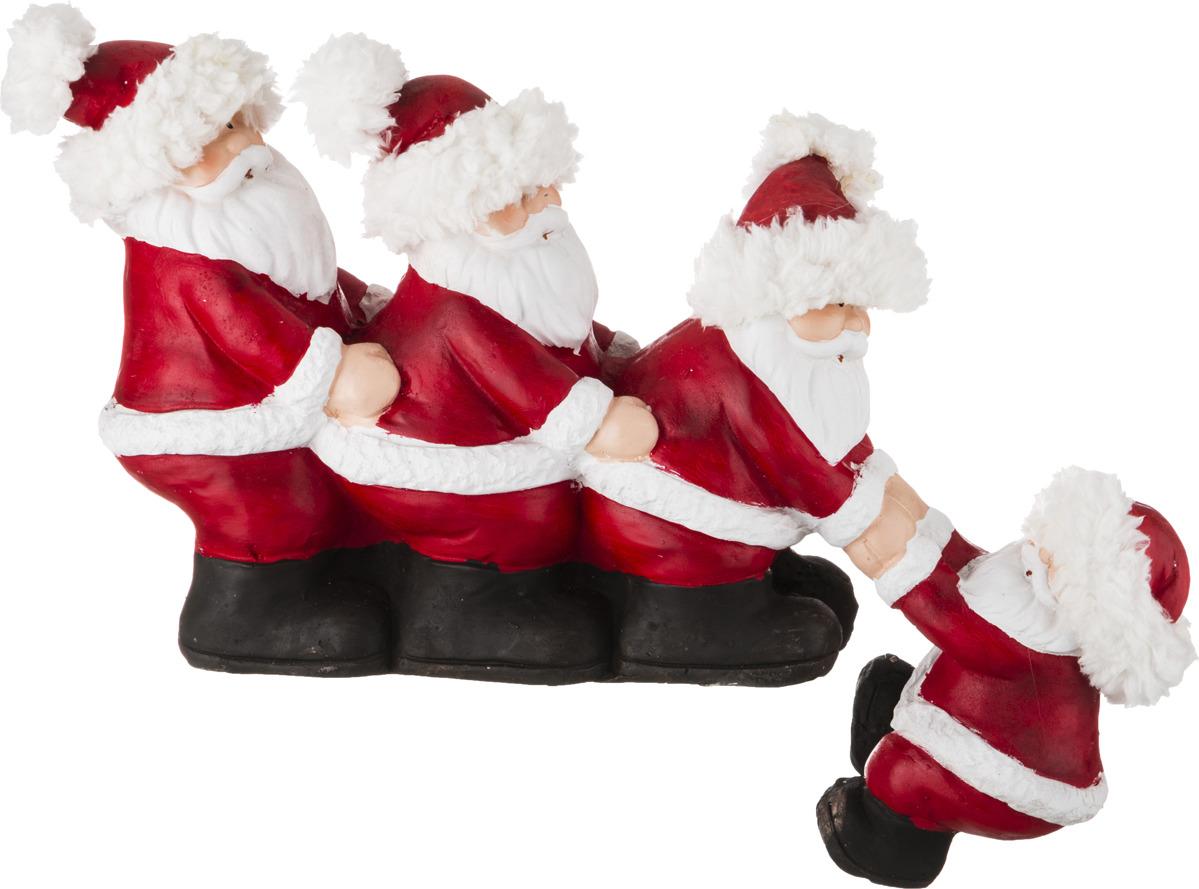 Фигурка декоративная Lefard Дед Мороз, 100-436, белый, красный, 47 х 25 х 21 см наклейка декоративная на сткело дед мороз 2 вида 25 33 см пвх