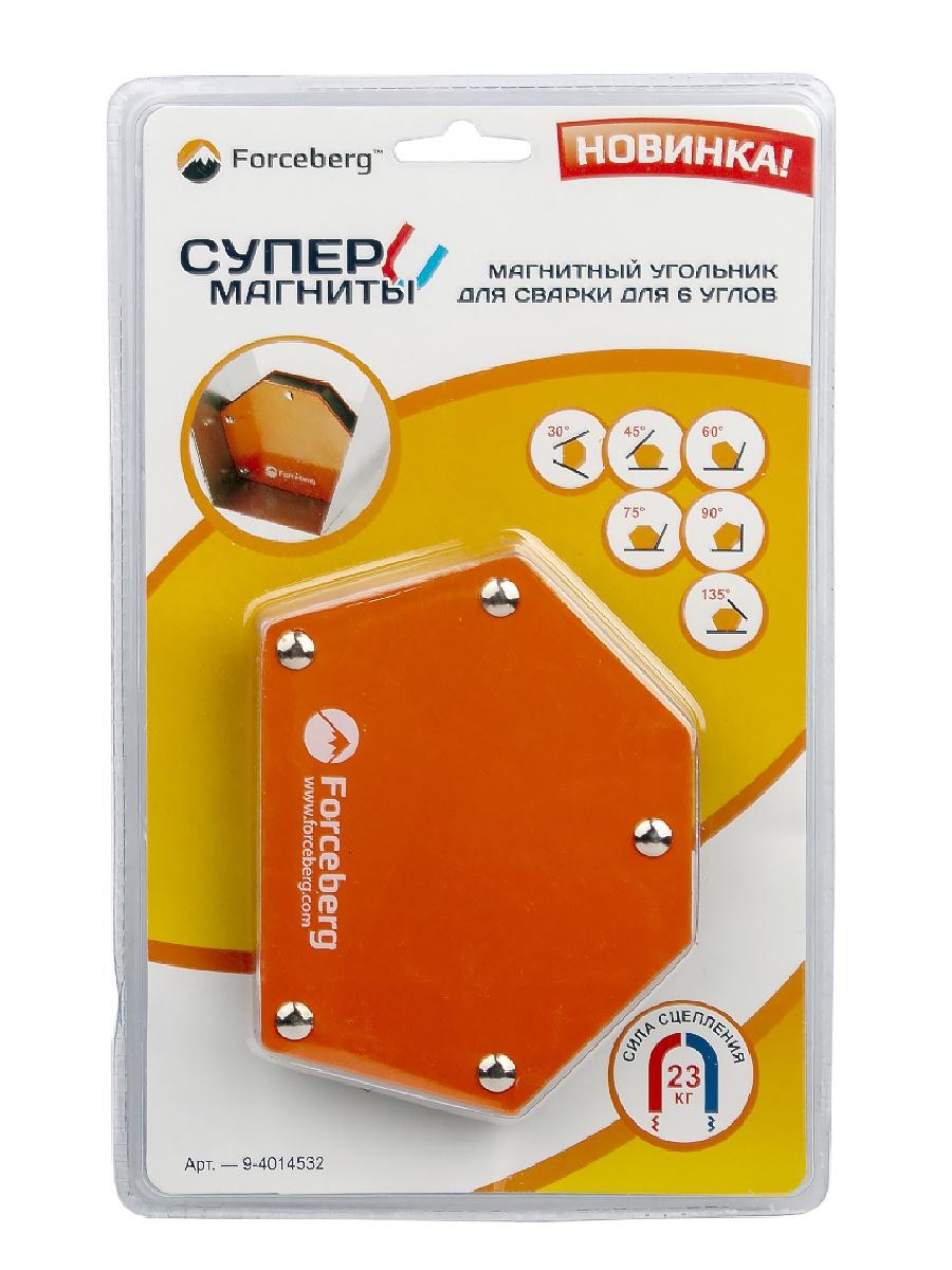 Магнитный держатель Forceberg Магнитный угольник для сварки для 6 углов усилие до 23 кг угольник магнитный для сварки универсальный 615 34 кг