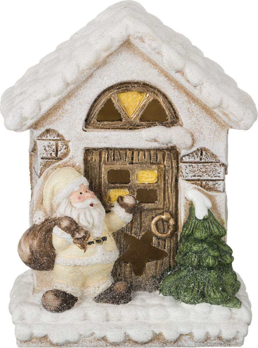 Фигурка декоративная Lefard Дед Мороз, 100-412, белый, зеленый, 18 х 11 х 23 см оконное украшение дед мороз и снегурочка 2000049137130 30 х 41 5 х 1 см