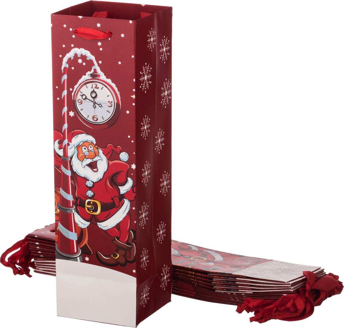 """Пакеты бумажные Lefard """"Дед Мороз"""", 512-523, 36 х 10.5 х 10.5 см, 12 шт"""