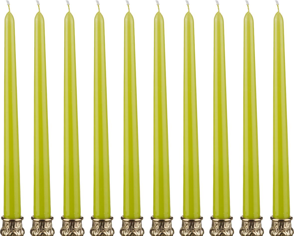Набор свечей Lefard, 348-376, фисташковый, высота 29 см, 10 шт набор свечей lefard 348 376 фисташковый высота 29 см 10 шт