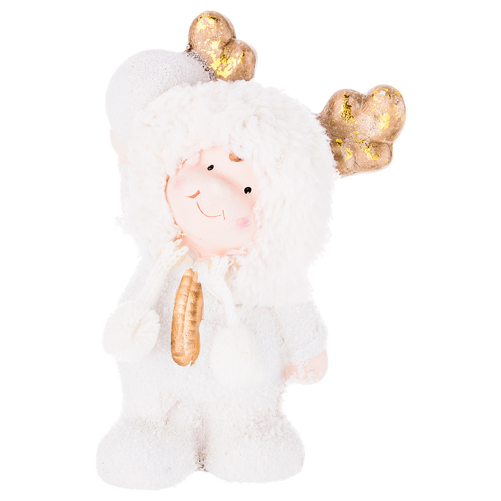 Фигурка декоративная Lefard Девочка, 100-505, белый, 16 х 8 х 6 см фигурка декоративная lefard девочка 100 501 белый красный 19 х 7 х 5 см