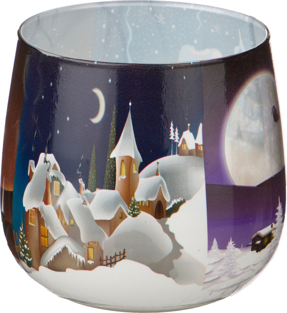 Свеча праздничная Lefard Зимний пейзаж, 348-307, разноцветный, 6 х 7 см348-307СВЕЧА ЗИМНИЙ ПЕЙЗАЖ ВЫСОТА=7 СМ ДИАМЕТР=6 СМ (КОР=12ШТ.)