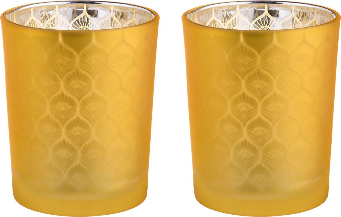 Набор подсвечников Lefard, 421-106, желтый, 5.5 х 6.5 см, 2 шт patricia набор подсвечников 2 шт 38 см 34 см