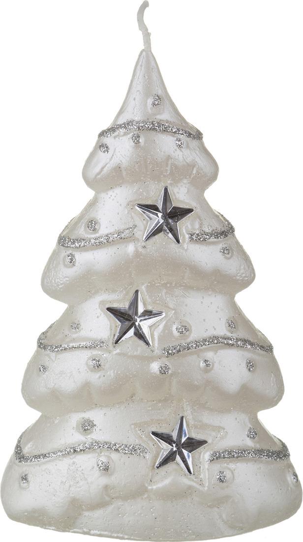 Свеча праздничная Lefard Елочка, 348-360, серебристый, 9 х 5 х 14 см мыльница fresh code море ракушка на присоске цвет серебристый 14 х 9 5 х 2 см