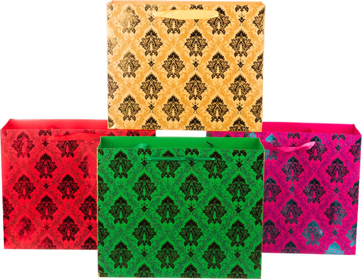 Пакеты бумажные Lefard, 512-507, 26 х 32 х 11 см, 12 шт, 4 вида, в ассортименте пакеты бумажные lefard елка 512 526 32 х 26 х 12 см 12 шт