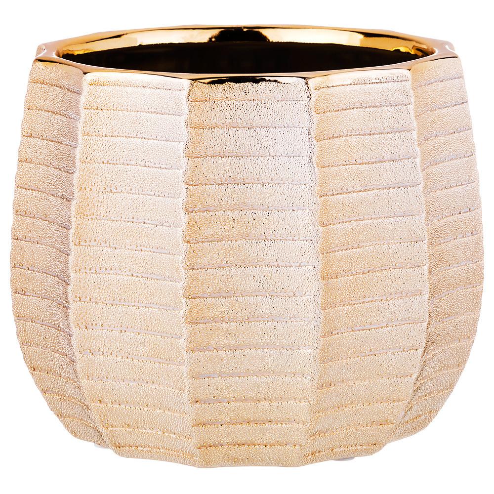 Ваза Lefard, 112-451, золотистый, 18.5 х 18.5 х 14.5 см ваза lefard 112 431 золотистый 21 х 12 х 34 5 см