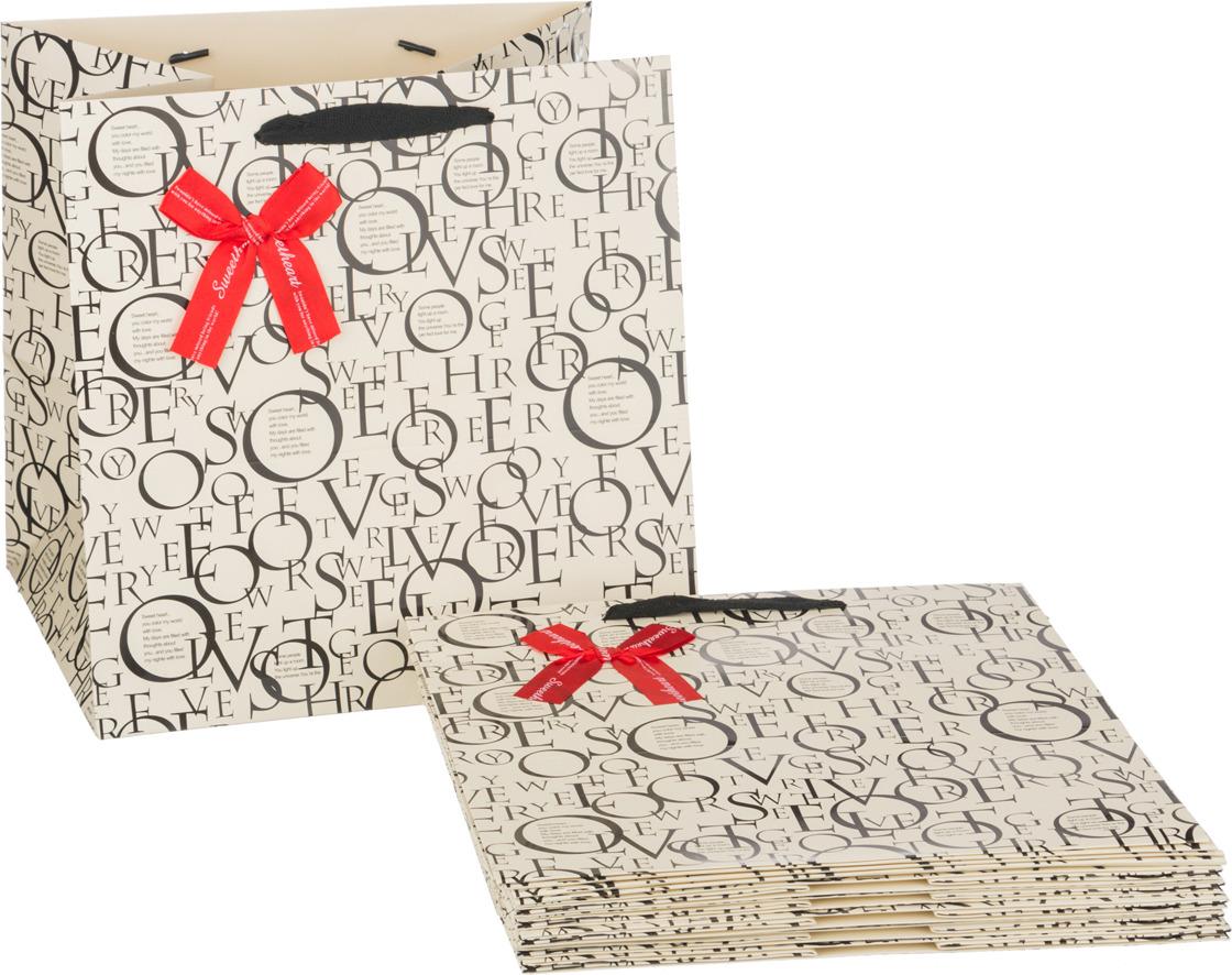 Пакеты бумажные Lefard, 521-092, 30 х 30 х 25 см, 10 шт