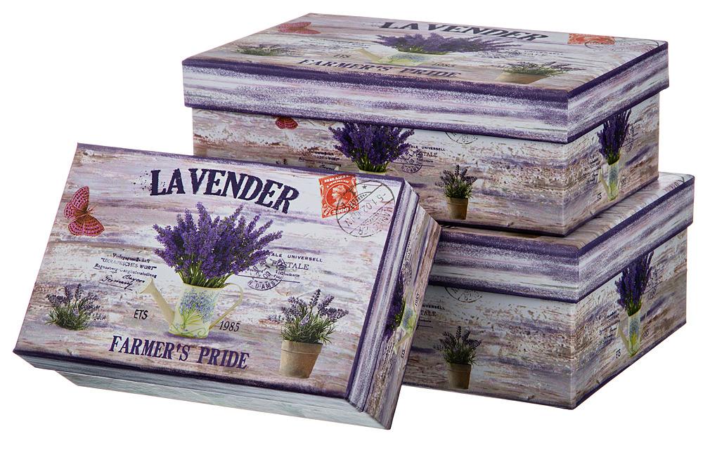 Набор подарочных коробок Lefard, 37-266, 3 шт набор розеток lefard 7 8 х 7 8 х 3 см 4 шт k31040 3