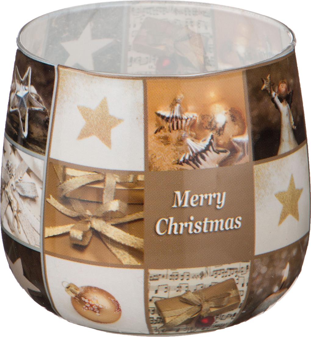 Свеча праздничная Lefard Merry Christmas, 348-437, разноцветный, 6 х 7 см свеча праздничная lefard christmas time 348 438 разноцветный 6 х 7 см