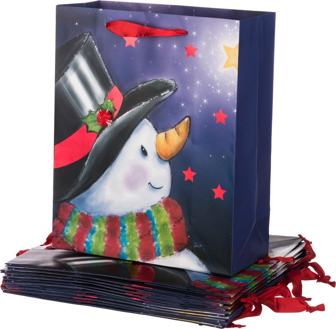 """Пакеты бумажные Lefard """"Новый год"""", 512-530, 32 х 26 х 12 см, 12 шт"""