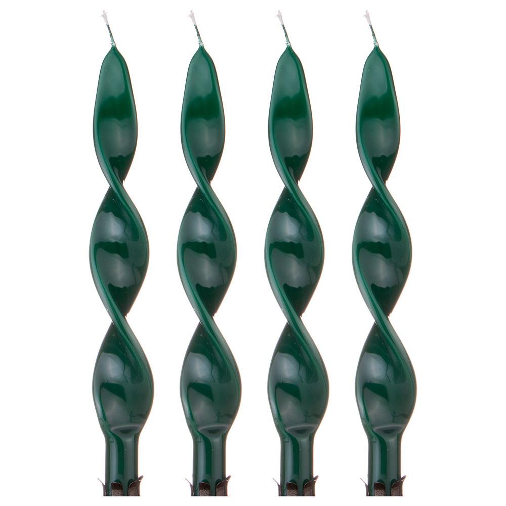 Набор свечей Lefard, 348-624, зеленый, 2.2 х 27 см, 4 шт набор свечей lefard 348 622 фиолетовый 2 2 х 27 см 4 шт