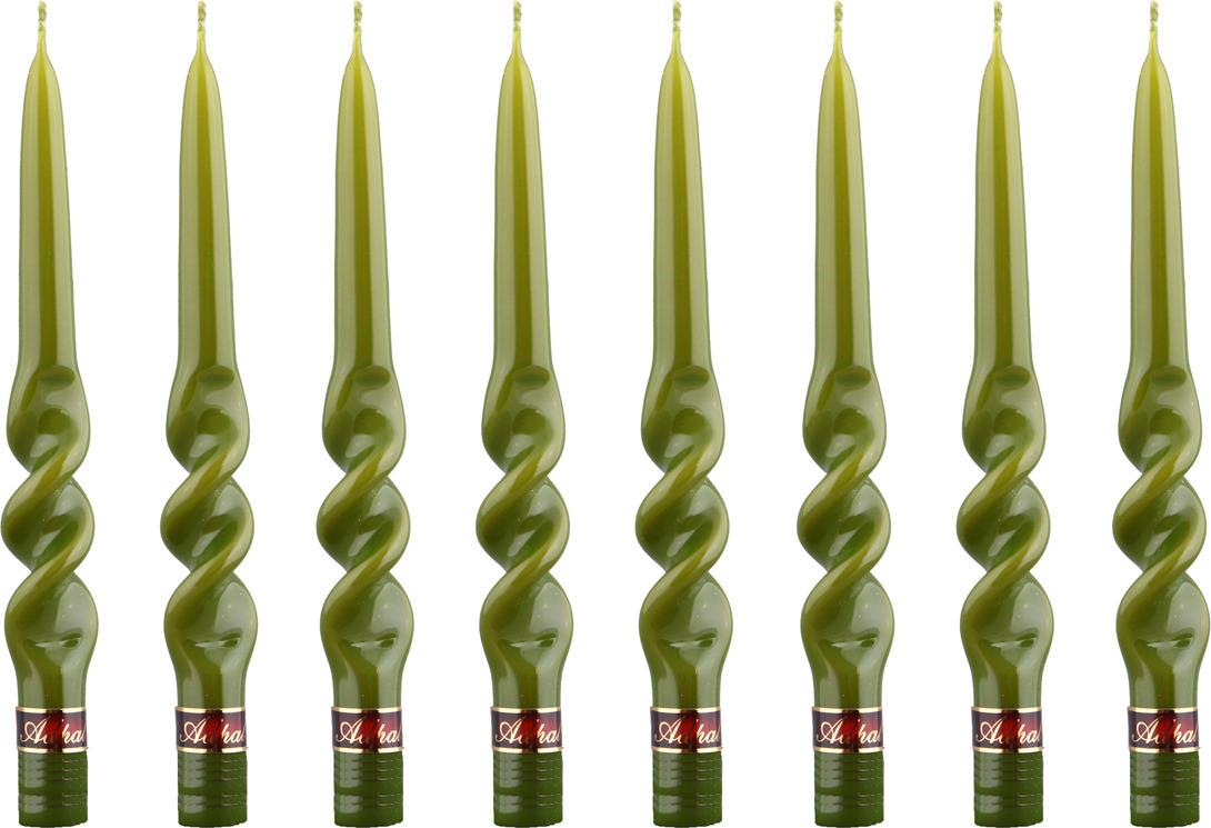 Набор свечей Lefard Альфа, 348-444, зеленый, 8 шт набор свечей lefard 348 376 фисташковый высота 29 см 10 шт