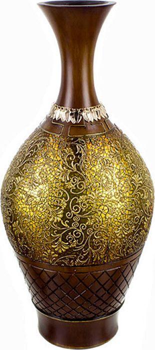 Ваза Lefard Золотой песок, цвет: коричневый, высота 51 см