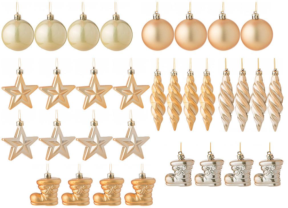 Набор декоративных шаров Lefard Золотые блестки, 858-026, золотистый, 32 шт набор шаров блестки 4 шт в картонной коробке 7 см 4 цв