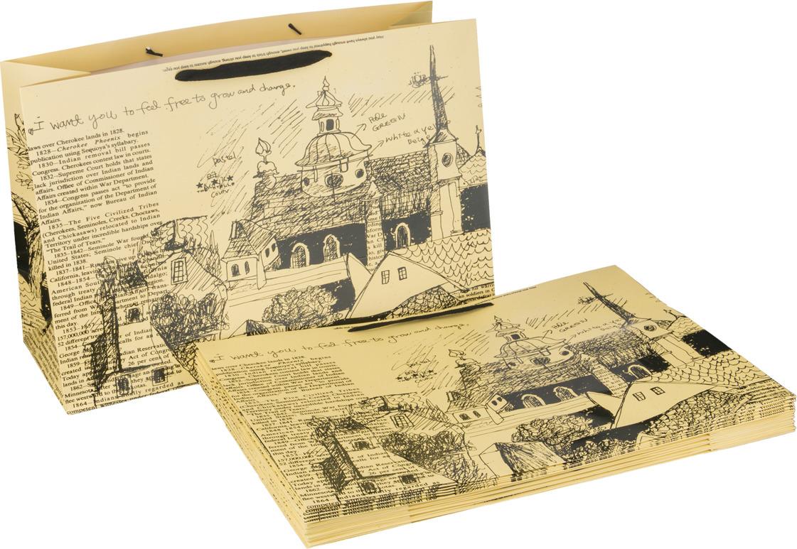 Пакеты бумажные Lefard, 521-001, 46 х 35 х 15 см, 10 шт цена