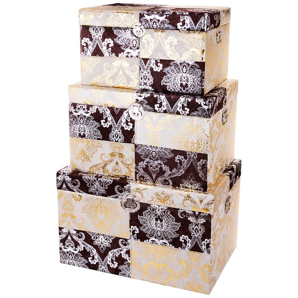 Набор декоративных сундуков Lefard, 714-052, 3 шт набор праздничных фигурок lefard рождество 3 шт bh0785441s