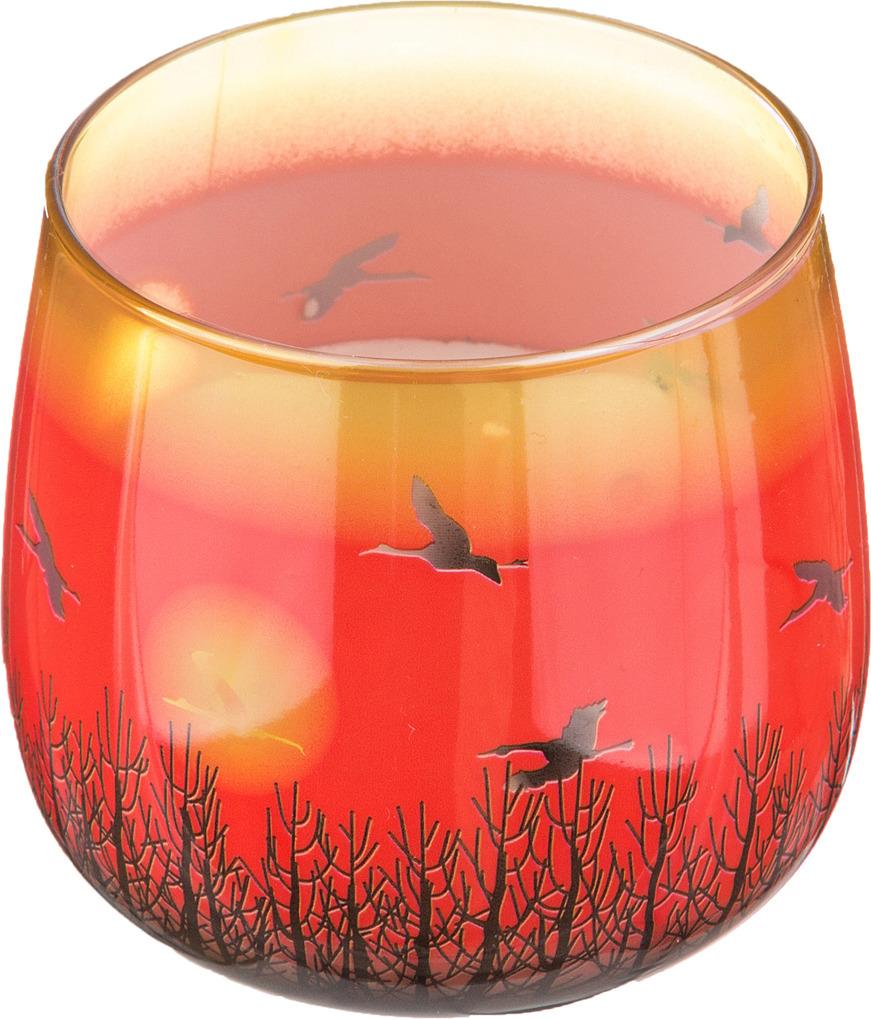 Свеча праздничная Lefard Закат, 348-468, оранжевый, аромат манго, 8 х 7 см свеча праздничная lefard christmas time 348 438 разноцветный 6 х 7 см