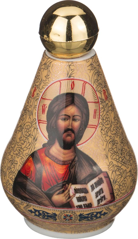 Бутылка декоративная Lefard для святой воды, 55-2796, золотой, 100 мл сосуд для святой воды lefard лики 86 2040