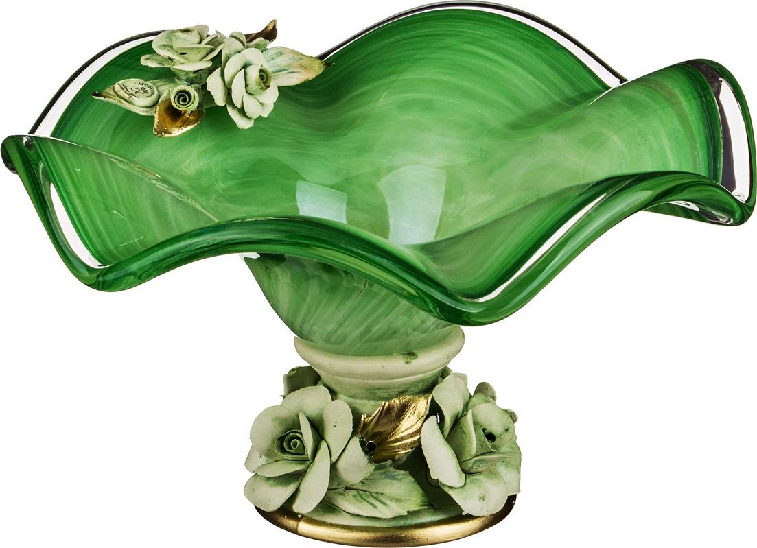 Декоративная чаша Lefard, 647-645, зеленый, 25 х 14 см декоративная чаша lefard 647 645 зеленый 25 х 14 см