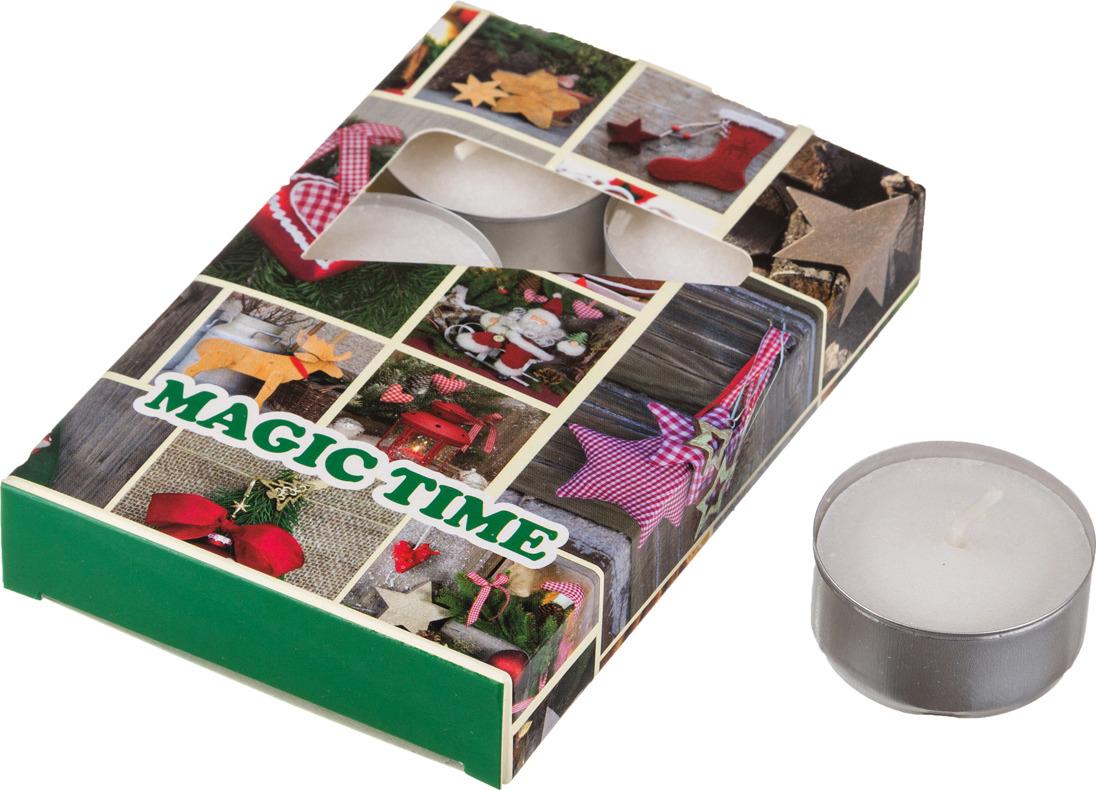 Набор плавающих свечей Lefard Magic Time, 348-474, аромат корица, белый, с подставкой, 4 х 2 см, 6 шт набор сердец из пенопласта в opp пакете с подвесом 4 шт 4 см 2шт 6 см 2 шт 2310 1