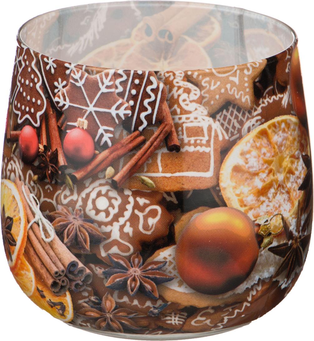 Свеча праздничная Lefard Имбирный пряник, 348-436, разноцветный, 6 х 7 см свеча праздничная lefard christmas time 348 438 разноцветный 6 х 7 см