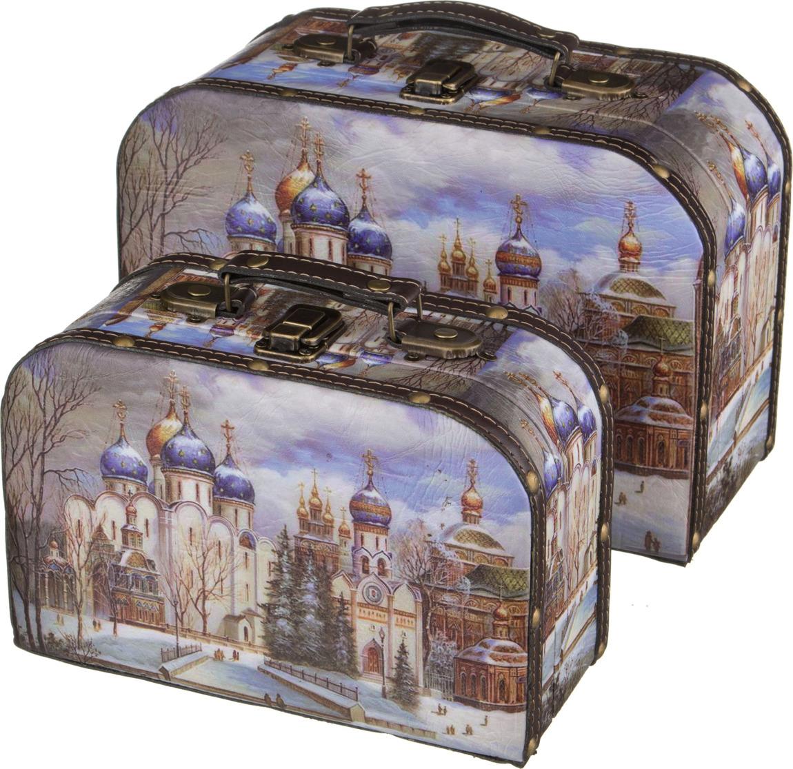 Набор шкатулок Lefard Церкви России, 41-318, 2 шт41-318Набор шкатулок Lefard Церкви России, 41-318, 2 шт