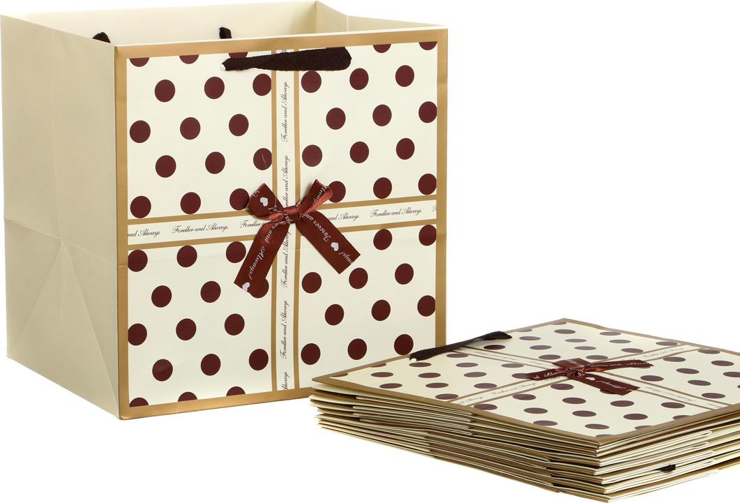 Пакеты бумажные Lefard, 521-090, 30 х 30 х 25 см, 10 шт