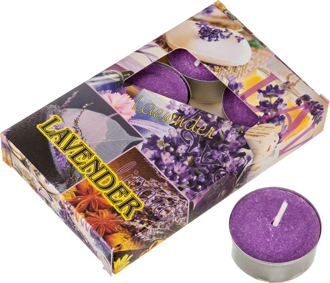 Набор плавающих свечей Lefard Лаванда, 348-489, белый, с подставкой, 4 х 2 см, 6 шт лаванда фенхель lavender fennel hem 6 шт