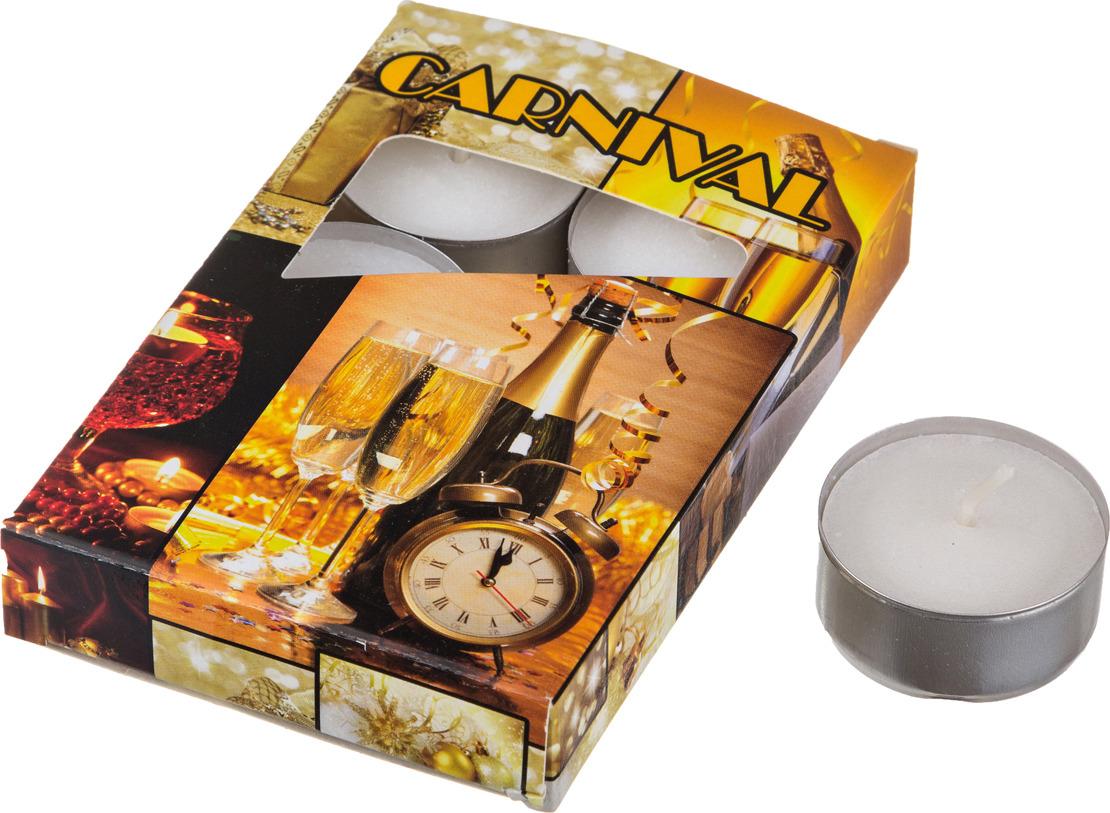 Набор плавающих свечей Lefard Карнавал, 348-475, аромат миндаль, белый, с подставкой, 4 х 2 см, 6 шт набор сердец из пенопласта в opp пакете с подвесом 4 шт 4 см 2шт 6 см 2 шт 2310 1