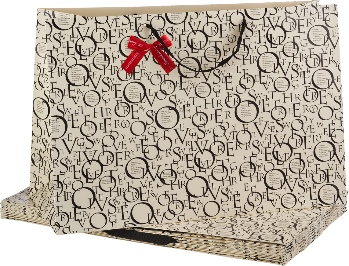 Пакеты бумажные Lefard, 521-097, 60 х 40 х 23 см, 10 шт