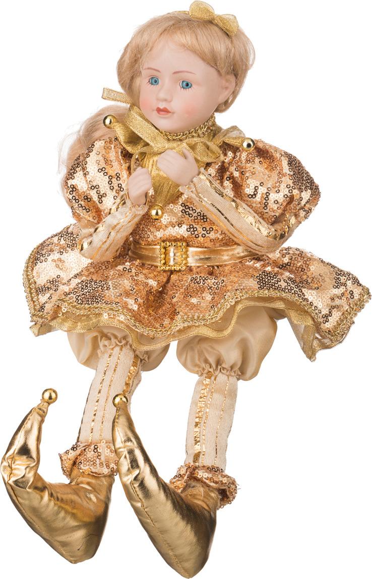 Фото - Украшение для интерьера музыкальное Lefard Девочка в золотом платье, 856-006, золотистый, 41 см украшение для интерьера lefard корона 856 028 золотистый красный 10 см